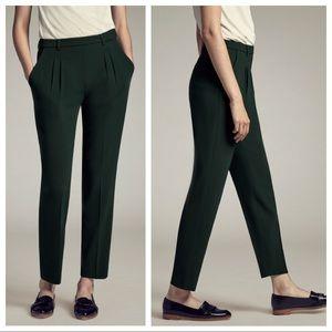 M.M. Lafleur Nakamura Trouser Green Pleated